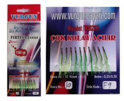 Vurgun Çapari - 150g Atarlı Boğaz 3 Renk Organze Çapari F9