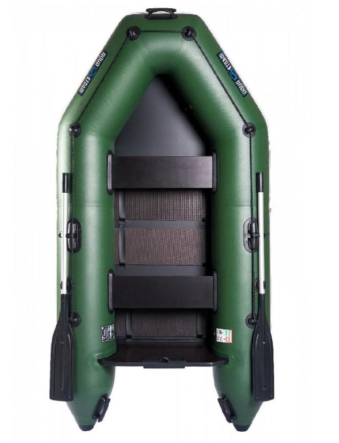 Aqua Storm - Aqua Storm Izgara Taban Motor Takılan Şişme Bot IT STM 260 Yeşil