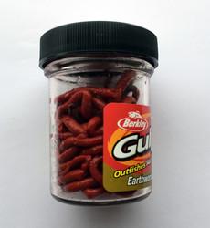 Berkley - Berkley Gulp Earthworms Red Wiggler