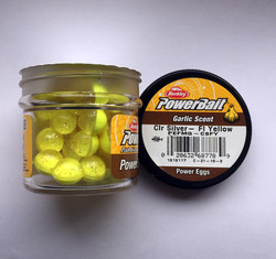 Berkley - Berkley Power Bait Garlic Scent Clr Siver - Fl Yellow