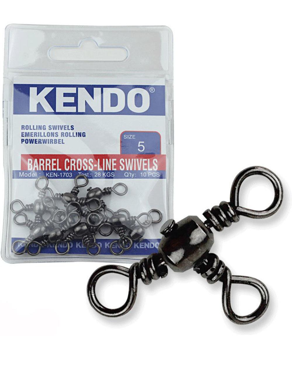 KENDO - Kendo Barrel Cross-Line Swivels 10 Adet