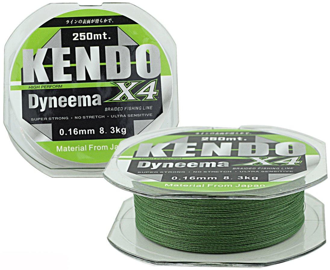 KENDO - Kendo X4 Dyneema Green 250m Örgü İp Misina