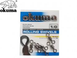 Okuma - Okuma Rolling Swivels Black Fırdöndü
