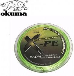 Okuma - Okuma X-PE Dynema 8 Kat 250m Green Örgü İp Misina