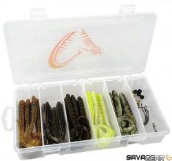Savage Gear - Savage gear Rib Worm Kit 30+17 Adet Silikon Yem